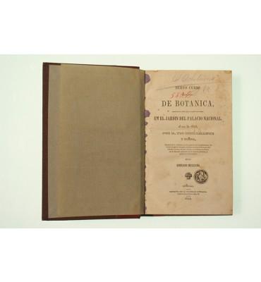 Nuevo curso elemental de botánica escrito en el orden que se enseñó este ramo, en el jardín del Palacio Nacional