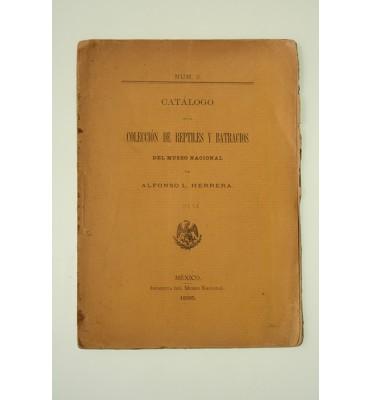 Catálogo de la colección de mamíferos; de aves; de reptiles y batracios del Museo Nacional