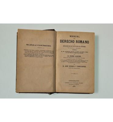 Manual del Derecho Romano