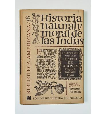 Historia natural y moral de las Indias (ABAJO)