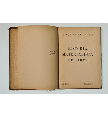 Historia materialista del arte