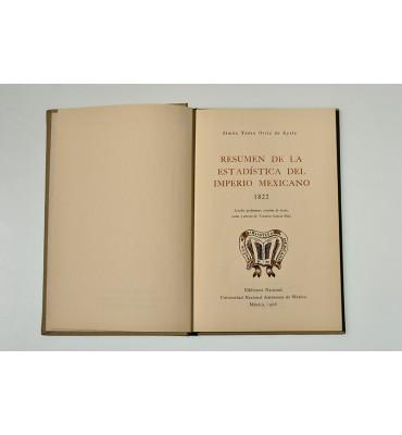 Resumen de la estadística del imperio mexicano 1822*