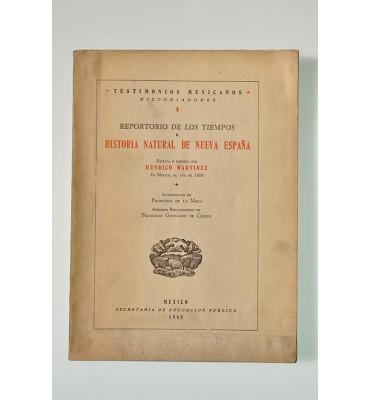 Reportorio de los tiempos e historia natural de Nueva España