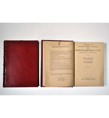 Compendio del tratado teórico y práctico de la responsabilidad civil, delictuosa y contractual.