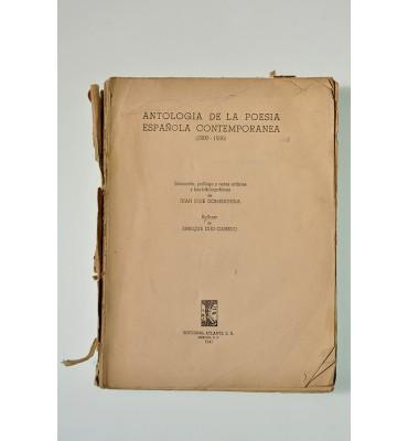 Antología de la poesía española contemporánea (1900-1936)