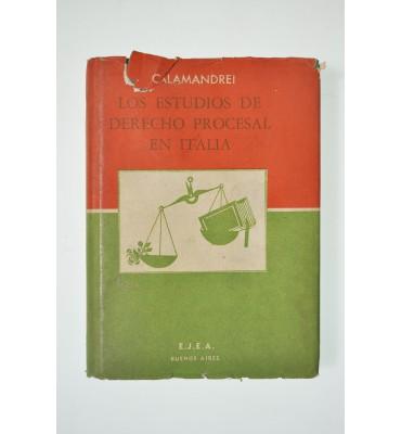 Los estudios de derecho procesal en Italia