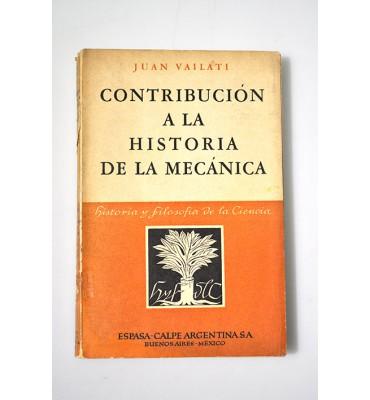 Contribución a la Historia de la Mecánica