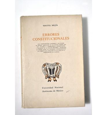 Errores constitucionales