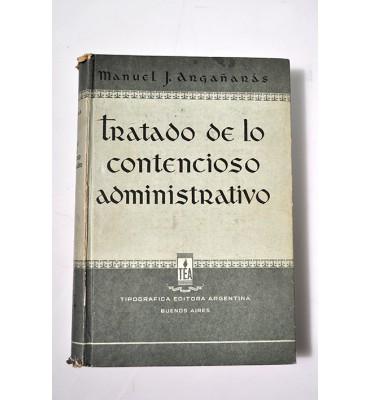 Tratado de lo contencioso administrativo