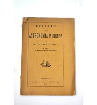 Errores de la astronomía moderna