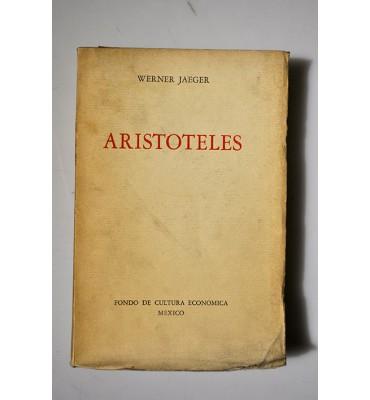 Aristóteles. Bases para la historia de su desarrollo intelectual.