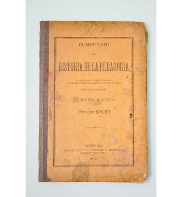 Compendio de historia de la pedagogía