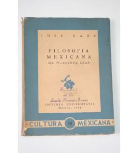 Filosofía mexicana de nuestros días