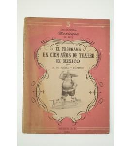 El programa en cien años de Teatro en México