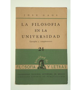 La filosofía en la universidad