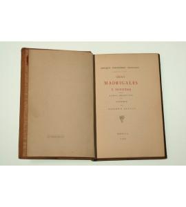 Odas madrigales y sonetos