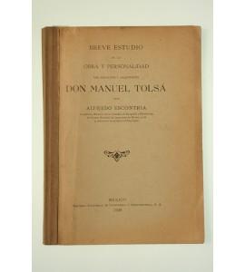 Breve estudio de la obra y personalidad del escultor y arquitecto Don Manuel Tolsá *