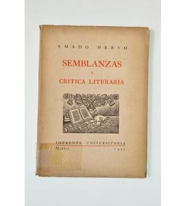 Semblanzas y crítica literaria