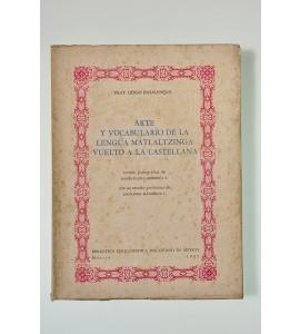 Arte y vocabulario de la lengua Matlaltzinga vuelto a la castellana (ABAJO CH)