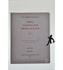 Corpus Antiquitatum Americanesium. Esculturas asociadas del Valle de Oaxaca