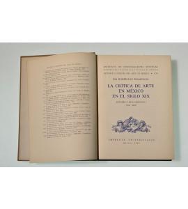 La crítica de arte en México en el siglo XIX. Estudio y documentos I (1810-1858)