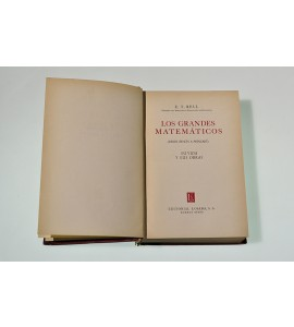 Los grandes matemáticos (desde Zenón a Poincaré). Su vida y sus obras. *