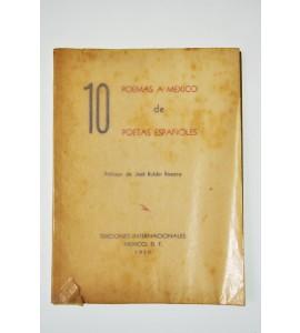10 poemas a México de poetas españoles