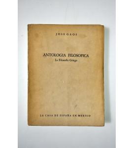 Antología filosófica. La filosofía griega.