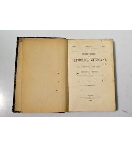 Estadística general de la República Mexicana. Periódico oficial que se publica en cumplimiento del art. 96 de la Ley Reglamentaria de 10 de junio de 1883.