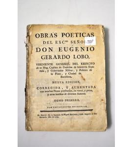 Obras poéticas del Exc.mo Señor Don Eugenio Gerardo Lobo