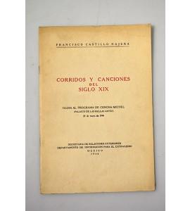 Corridos y canciones del siglo XIX