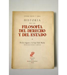 Historia de la filosofía del derecho y del estado. De los orígenes a la baja Edad Media.