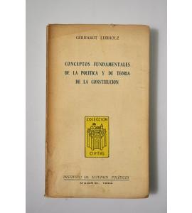 Conceptos fundamentales de la política y de teoría de la constitución *