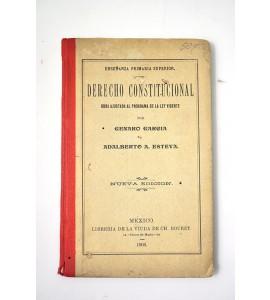 Derecho Constitucional obra ajustada al programa de la ley vigente