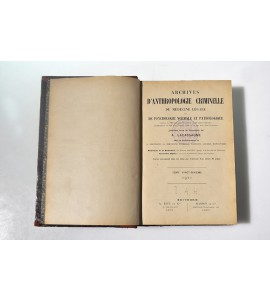 Archives D'anthropologie criminelle de médecine légale et de psychologie normale et pathologique