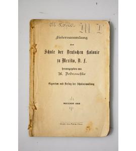 Liedersammlung der Schule der Deutschen kolonie in Mexico, D.F.