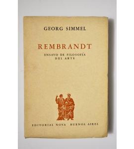 Rembrandt. Ensayo de Filosofía del arte