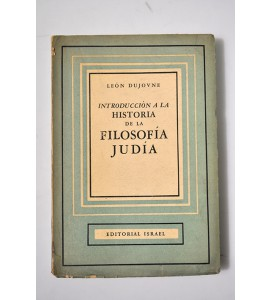 Introducción a la historia de la filosofía judía