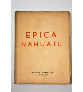 Épica Nahuatl. Divulgación literaria.  *