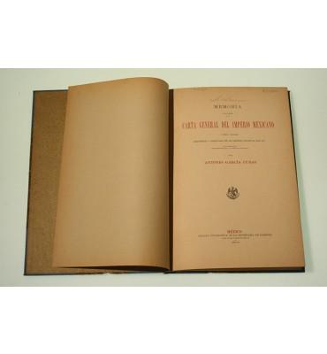 Memoria de la  carta general del Imperio Mexicano