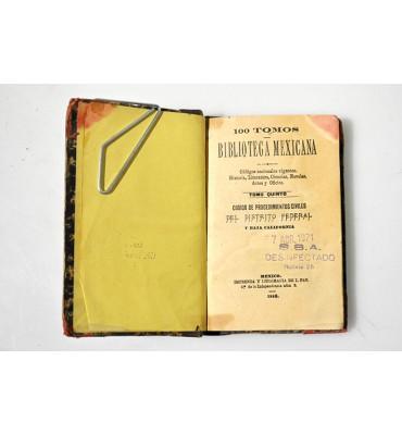 100 tomos Biblioteca Mexicana. Códigos nacionales vigentes, historia, literatura, ciencias, novelas, artes y oficios.