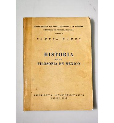 Historia de la filosofía en México *