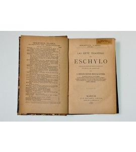 Las siete tragedias de Eschylo *