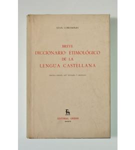 Breve diccionario etimológico de la lengua castellana