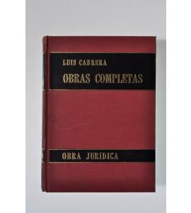 Obras completas de Luis Cabrera