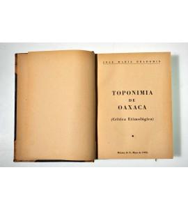 Toponimia de Oaxaca (Crítica etimológica)