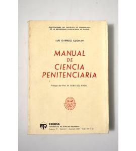 Manual de ciencia penitenciaria