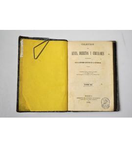 Colección de leyes, decretos y circulares expedidas por el Supremo Gobierno de la República.
