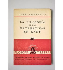 La filosofía de las matemáticas en Kant